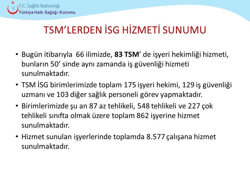 TSM'LERDEN İSG HİZMETİ SUNUMU
