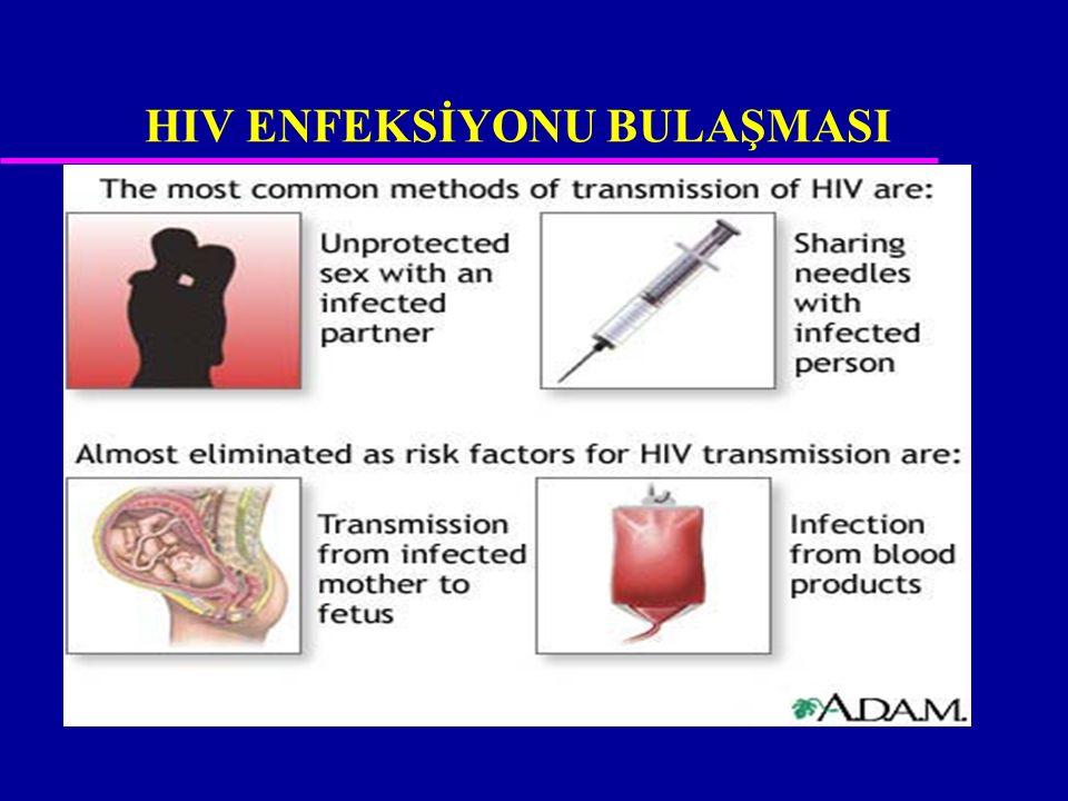 HIV ENFEKSİYONU BULAŞMASI
