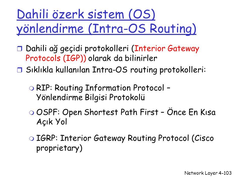 Dahili özerk sistem (OS) yönlendirme (Intra-OS Routing)
