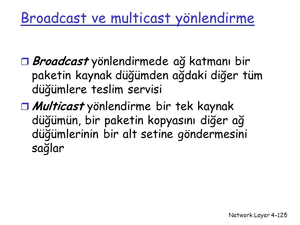 Broadcast ve multicast yönlendirme