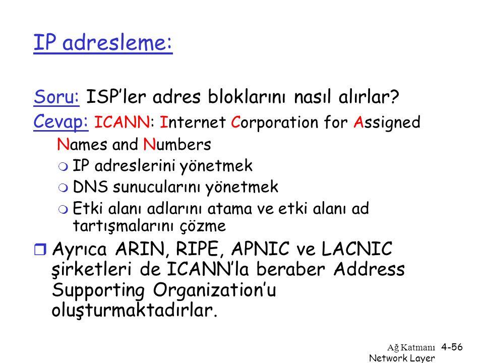 IP adresleme: Soru: ISP'ler adres bloklarını nasıl alırlar