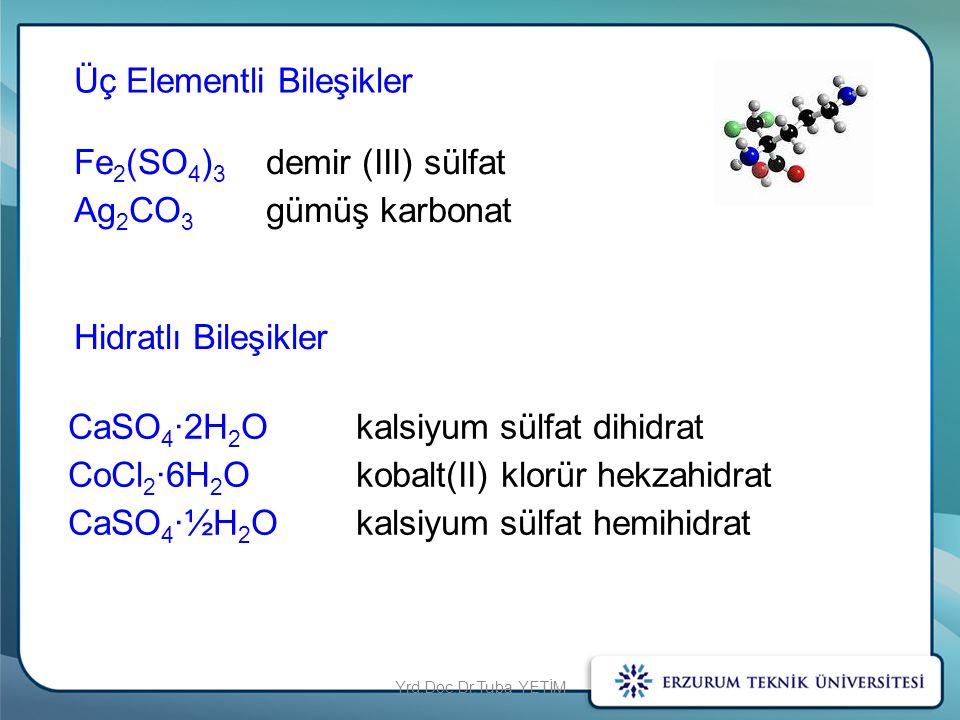 Üç Elementli Bileşikler