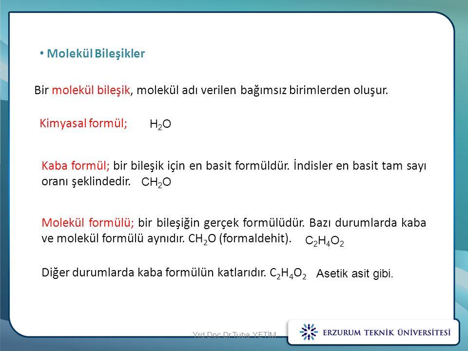 Bir molekül bileşik, molekül adı verilen bağımsız birimlerden oluşur.