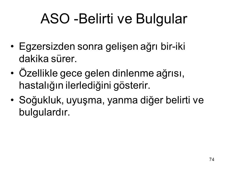 ASO -Belirti ve Bulgular