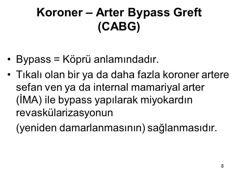 Koroner – Arter Bypass Greft (CABG)