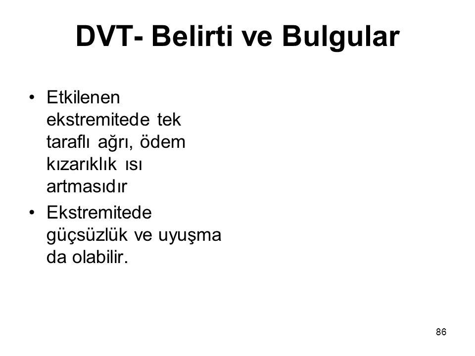 DVT- Belirti ve Bulgular