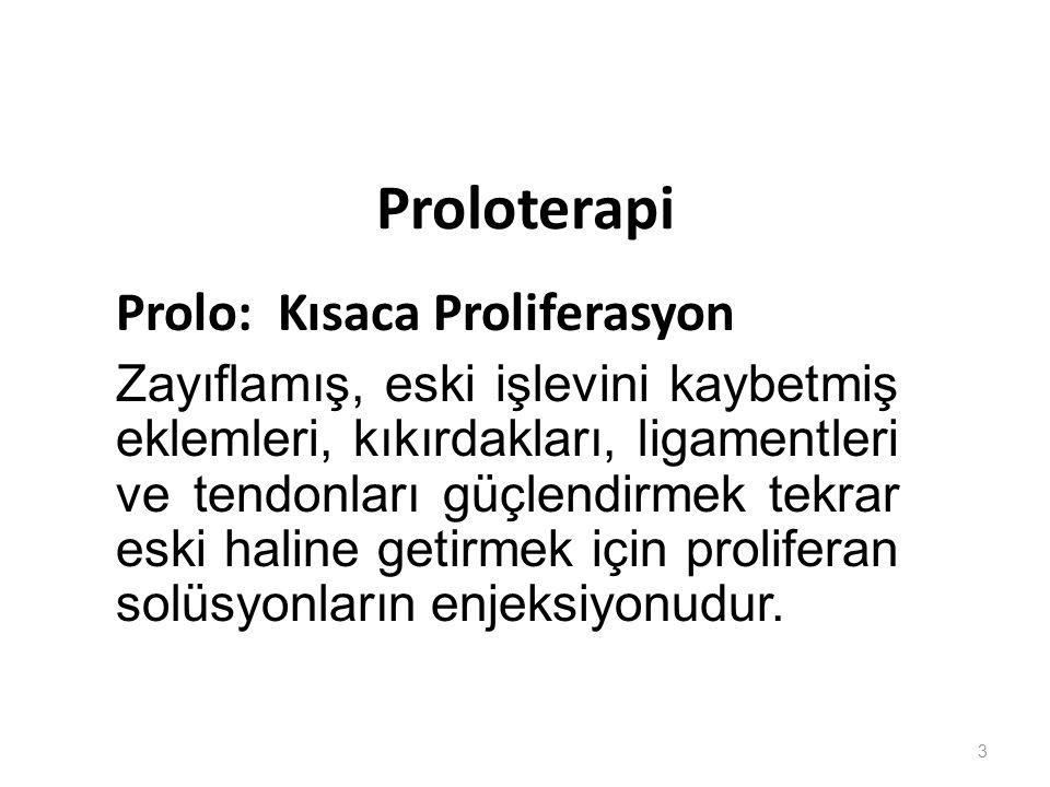 Proloterapi Prolo: Kısaca Proliferasyon