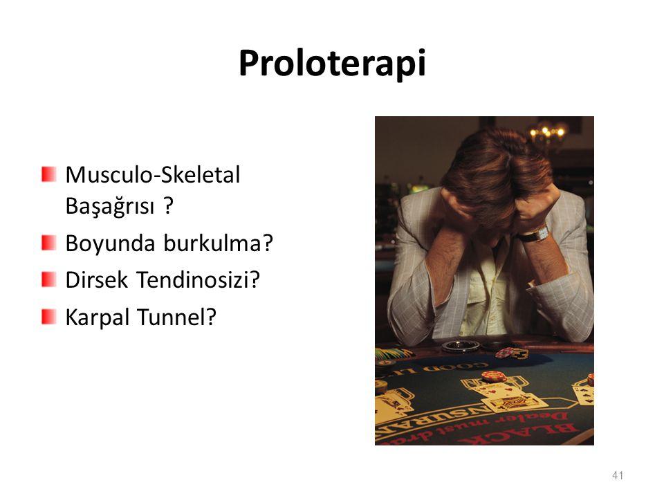Proloterapi Musculo-Skeletal Başağrısı Boyunda burkulma