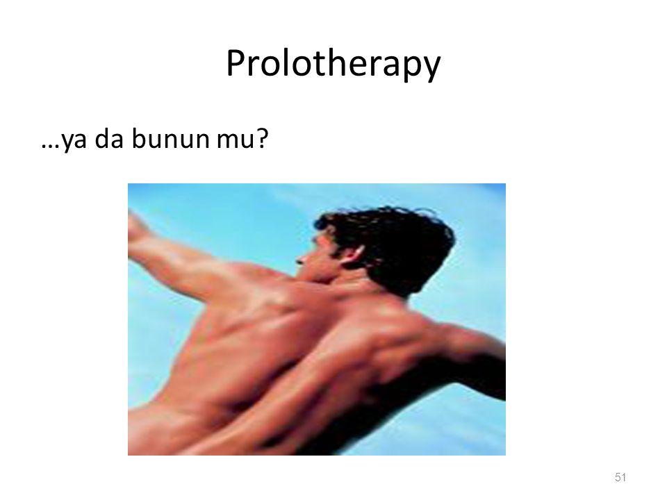 Prolotherapy …ya da bunun mu