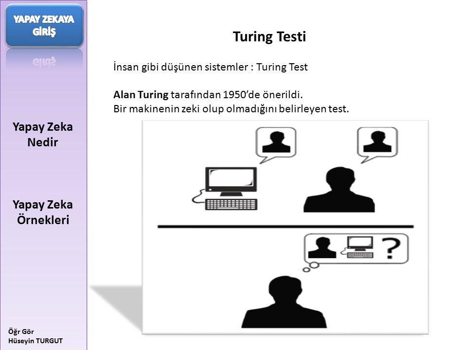 Turing Testi Yapay Zeka Nedir Yapay Zeka Örnekleri