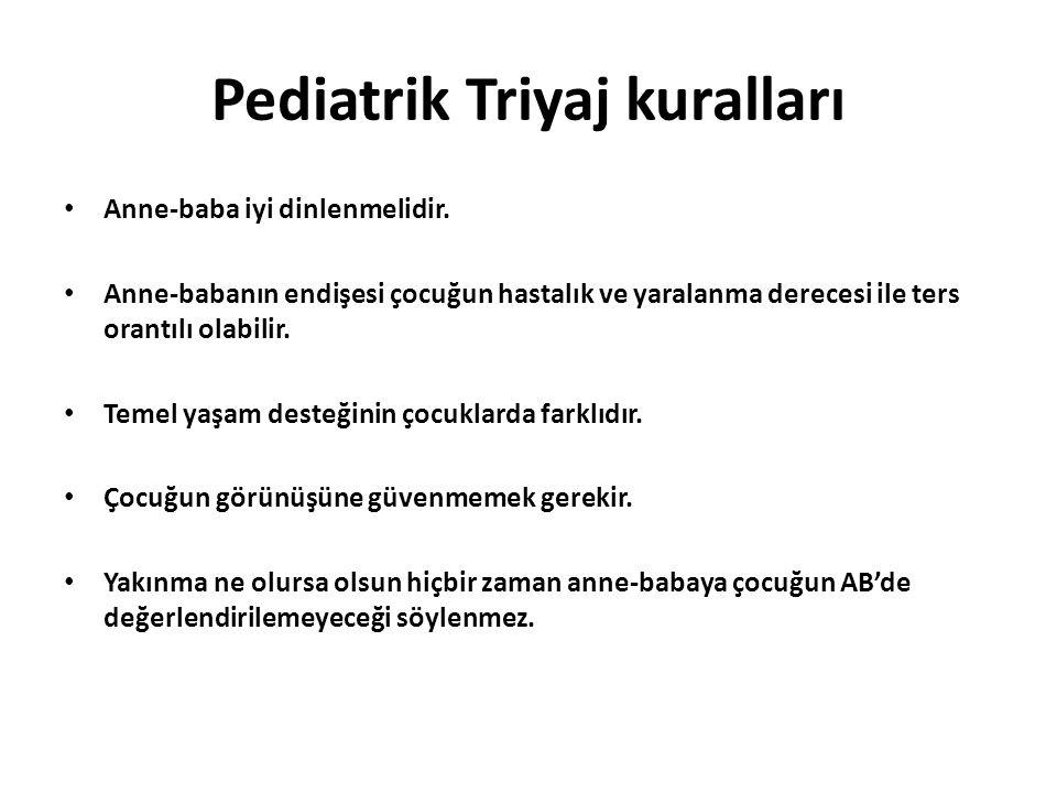 Pediatrik Triyaj kuralları