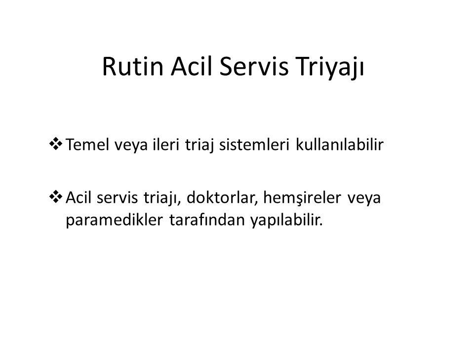 Rutin Acil Servis Triyajı