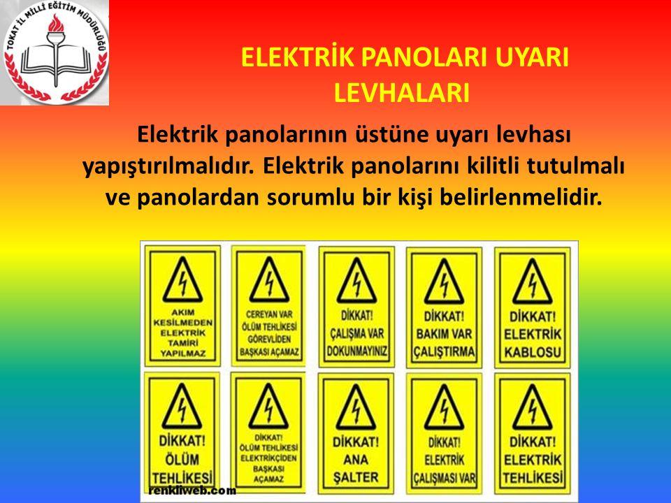 ELEKTRİK PANOLARI UYARI LEVHALARI