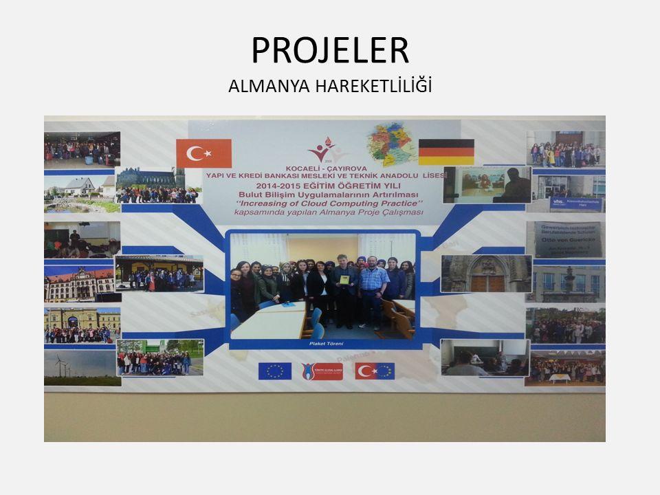 PROJELER ALMANYA HAREKETLİLİĞİ