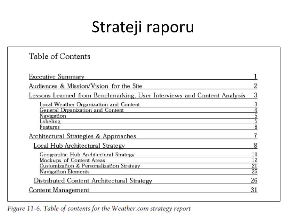 Strateji raporu