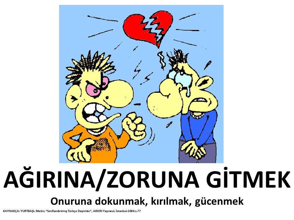 AĞIRINA/ZORUNA GİTMEK
