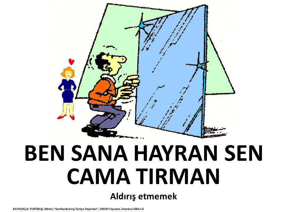 BEN SANA HAYRAN SEN CAMA TIRMAN