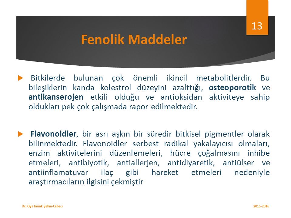 Fenolik Maddeler