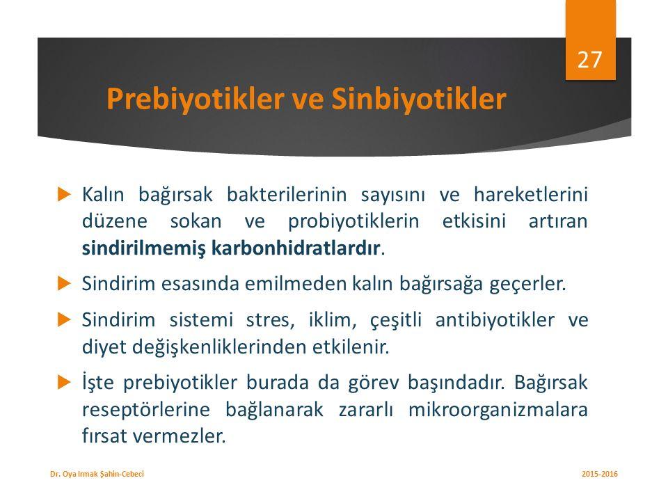 Prebiyotikler ve Sinbiyotikler
