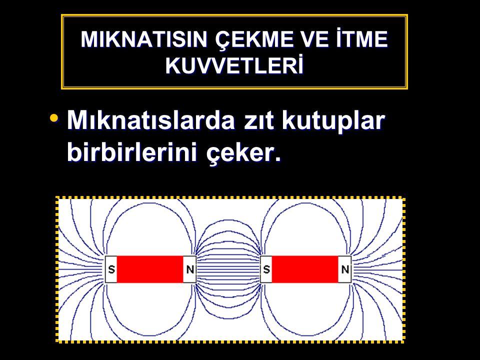 MIKNATISIN ÇEKME VE İTME KUVVETLERİ