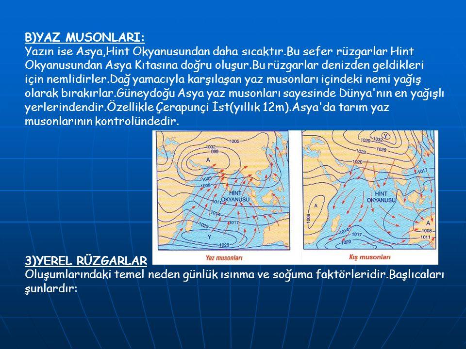 B)YAZ MUSONLARI: