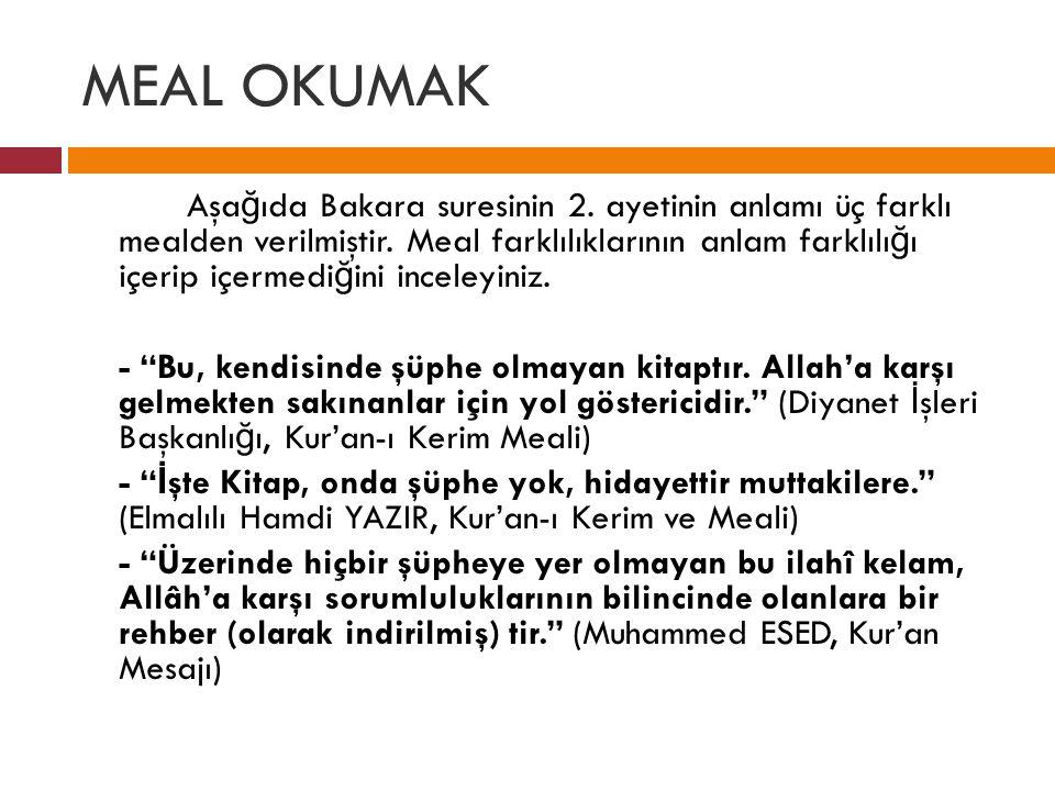 MEAL OKUMAK