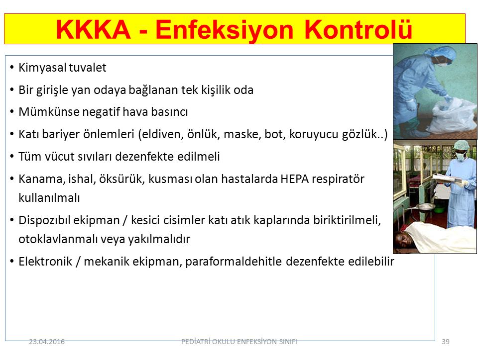 KKKA - Enfeksiyon Kontrolü