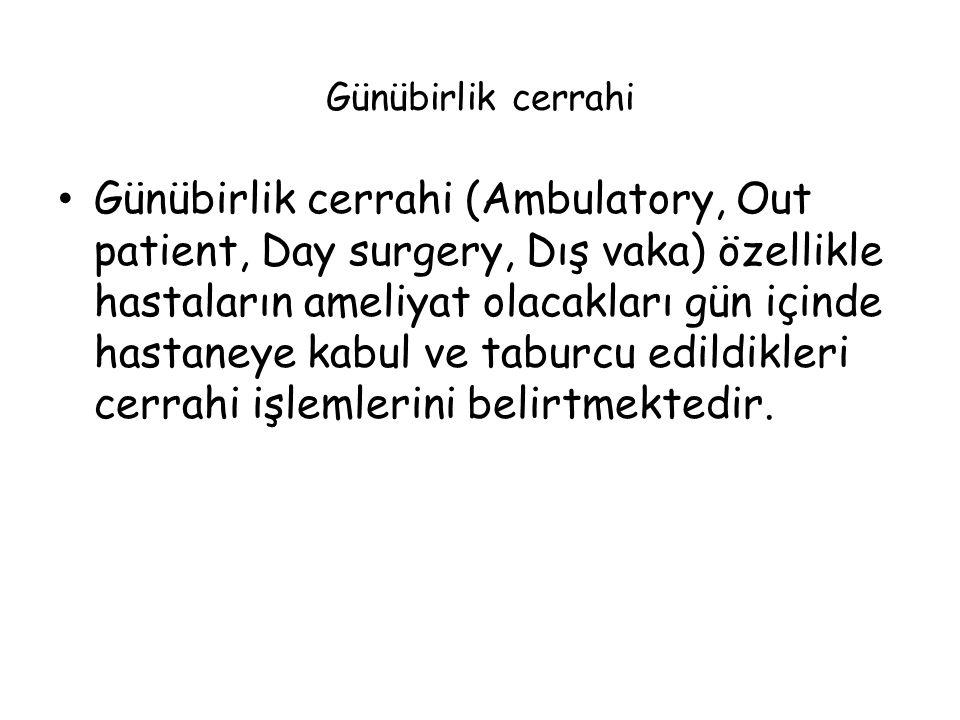 Günübirlik cerrahi