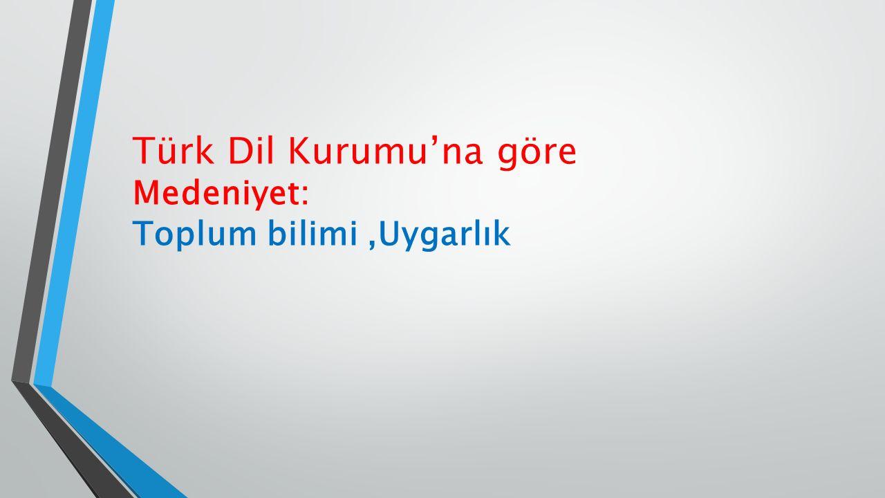 Türk Dil Kurumu'na göre