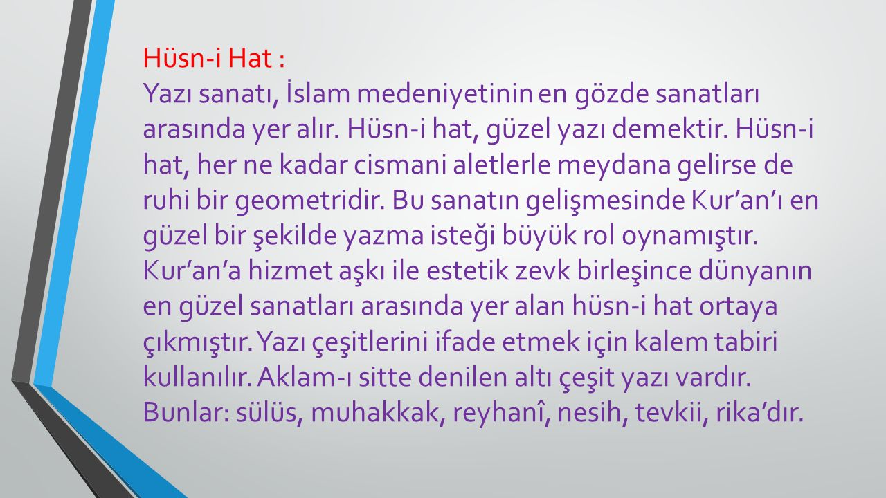 Hüsn-i Hat :