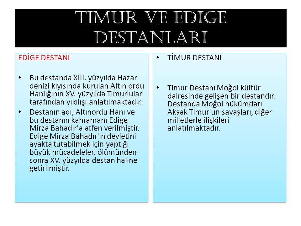 Timur ve edige destanları