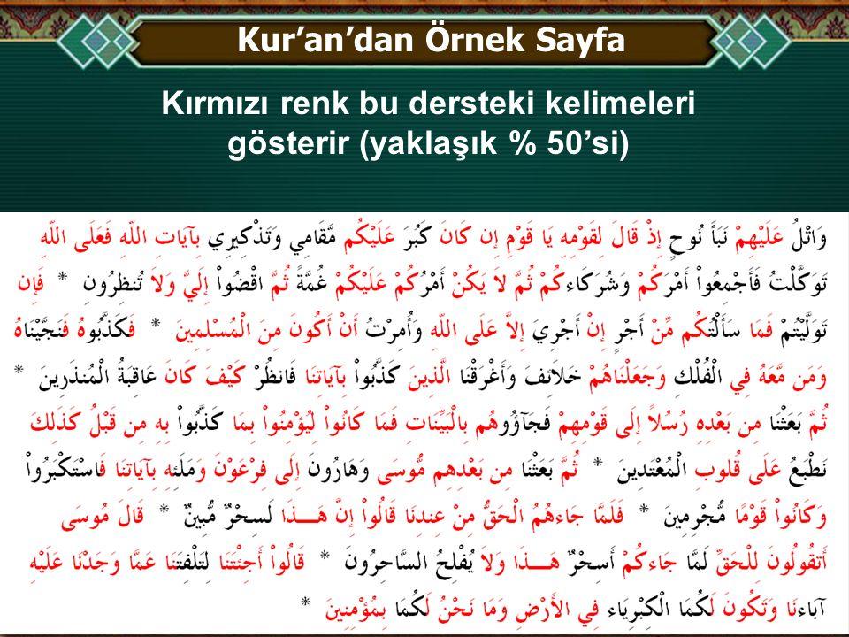 Kur'an'dan Örnek Sayfa