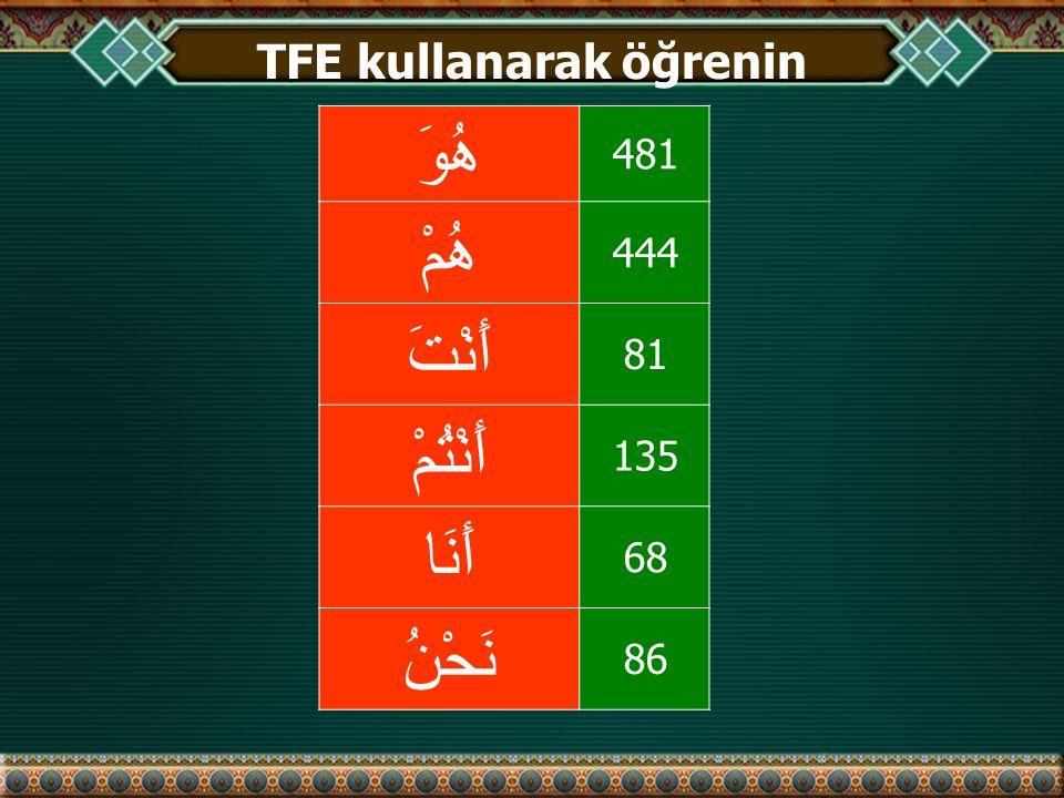 TFE kullanarak öğrenin