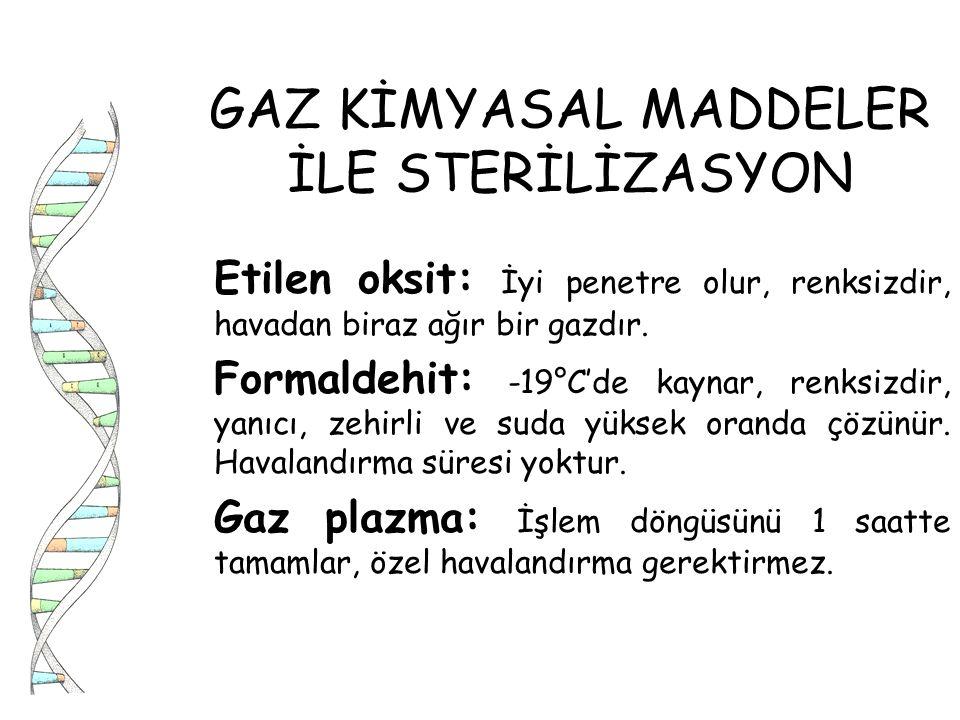 GAZ KİMYASAL MADDELER İLE STERİLİZASYON