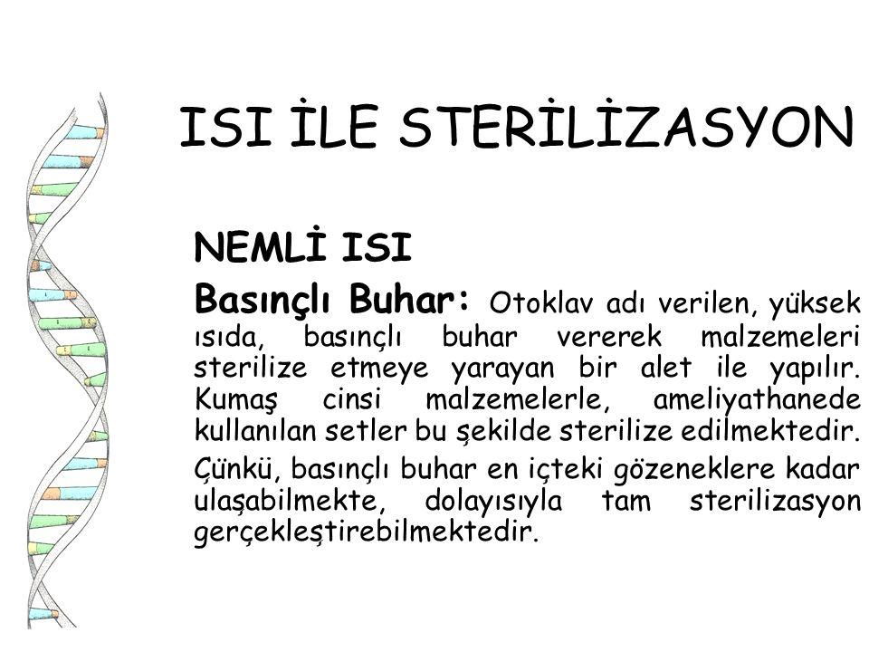 ISI İLE STERİLİZASYON NEMLİ ISI