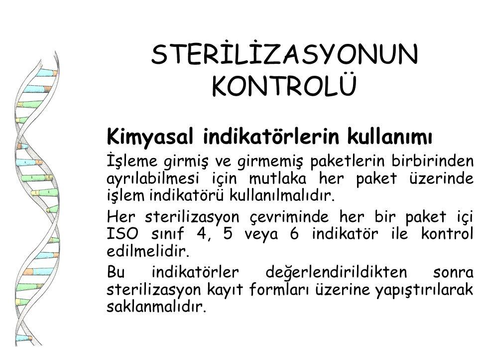 STERİLİZASYONUN KONTROLÜ