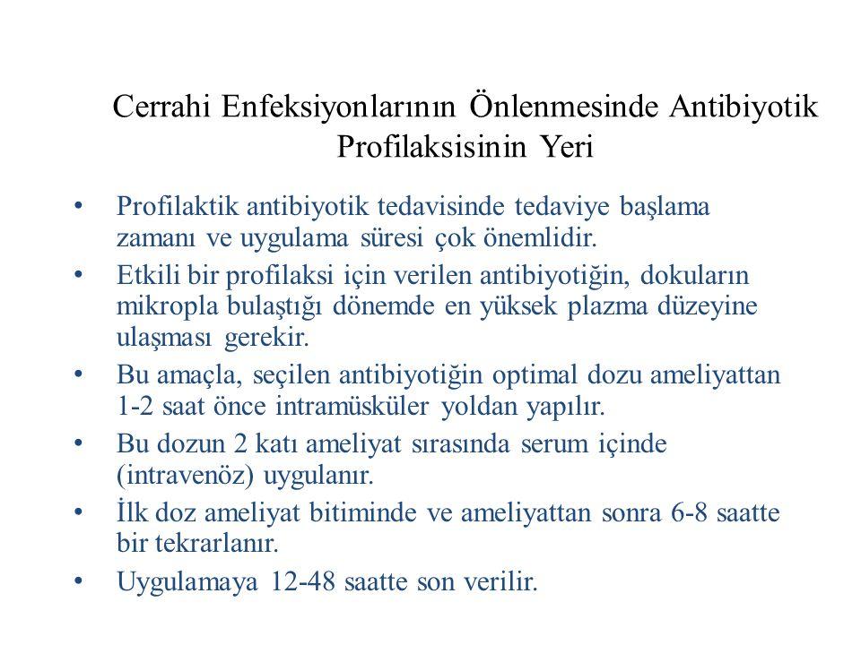 Cerrahi Enfeksiyonlarının Önlenmesinde Antibiyotik Profilaksisinin Yeri