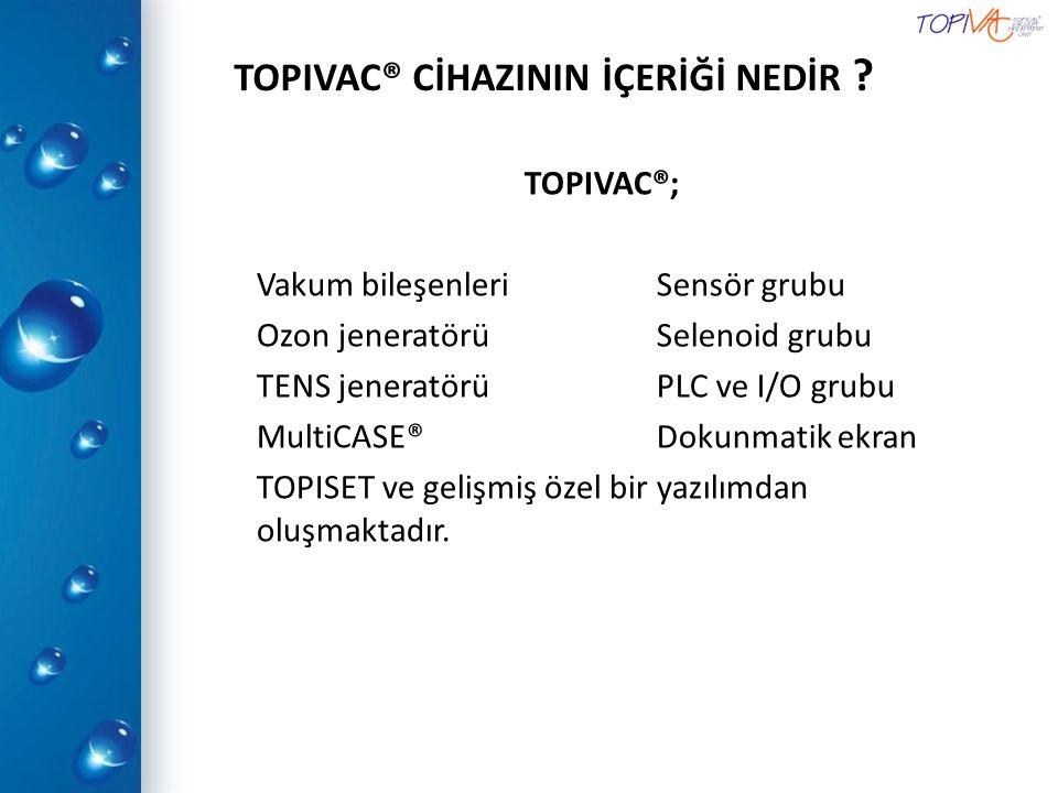 TOPIVAC® CİHAZININ İÇERİĞİ NEDİR
