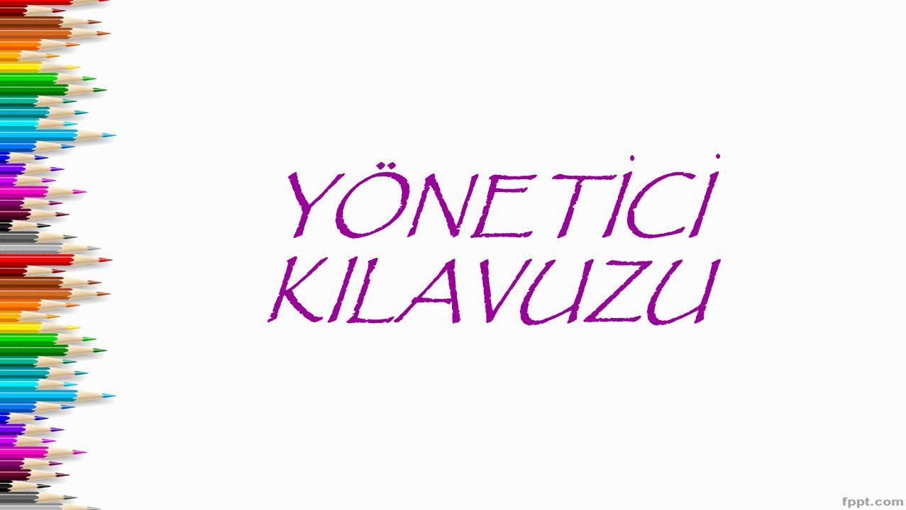 YÖNETICI KILAVUZU