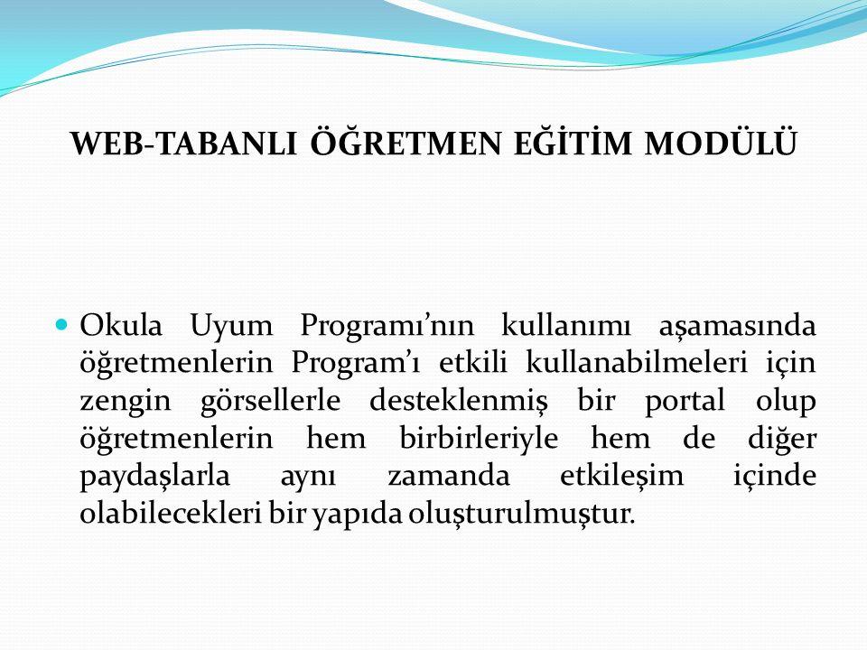 WEB-TABANLI ÖĞRETMEN EĞİTİM MODÜLÜ