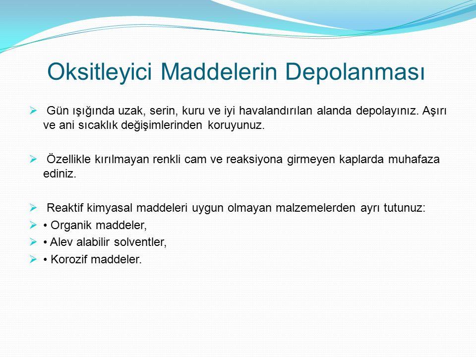 Oksitleyici Maddelerin Depolanması
