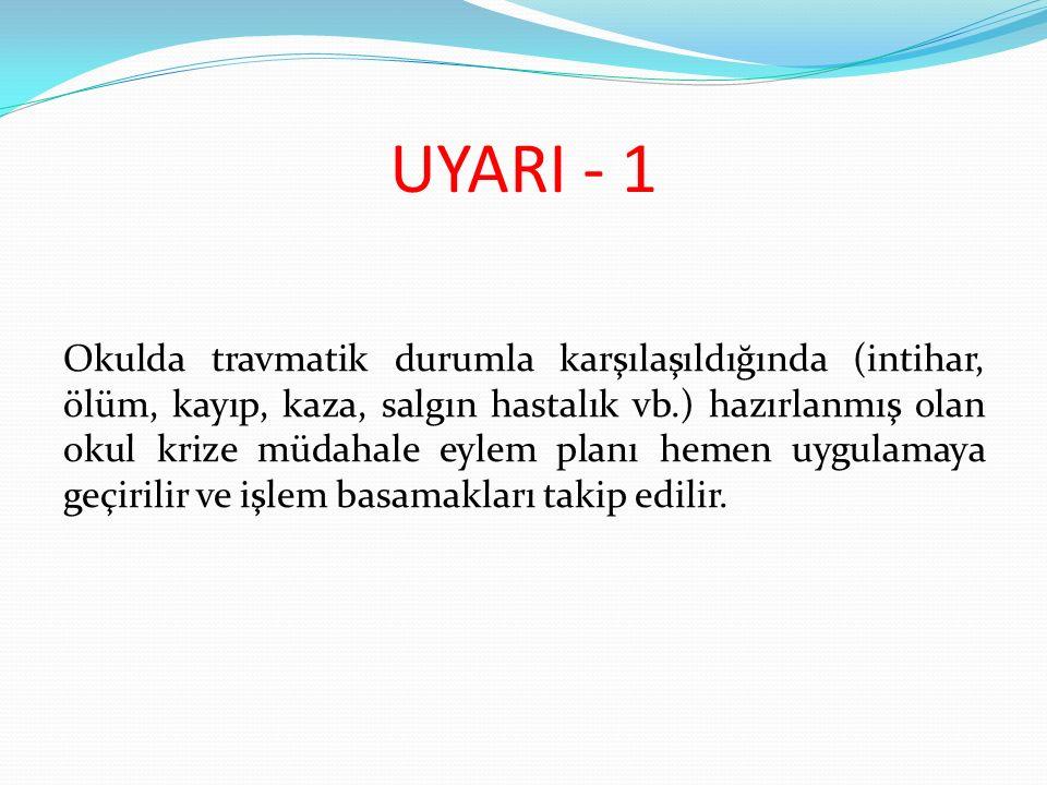 UYARI - 1