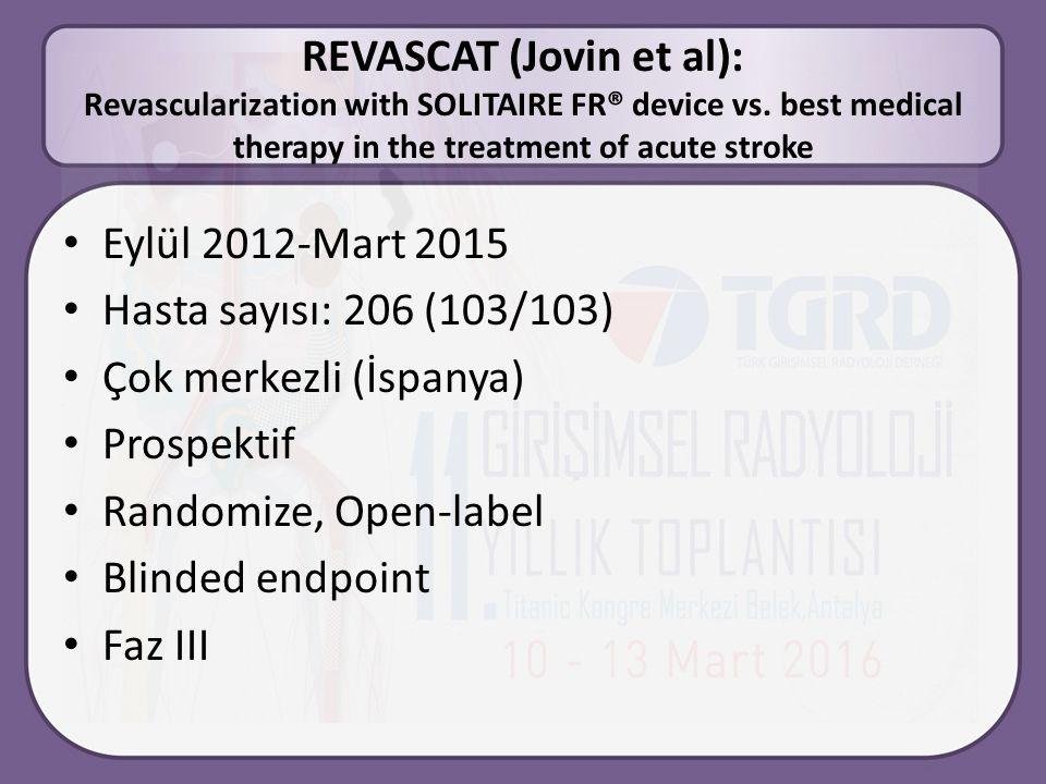 REVASCAT (Jovin et al): Revascularization with SOLITAIRE FR® device vs