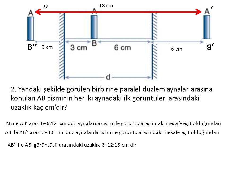 '' 3 cm. B'' 18 cm. 6 cm. ' ,B.
