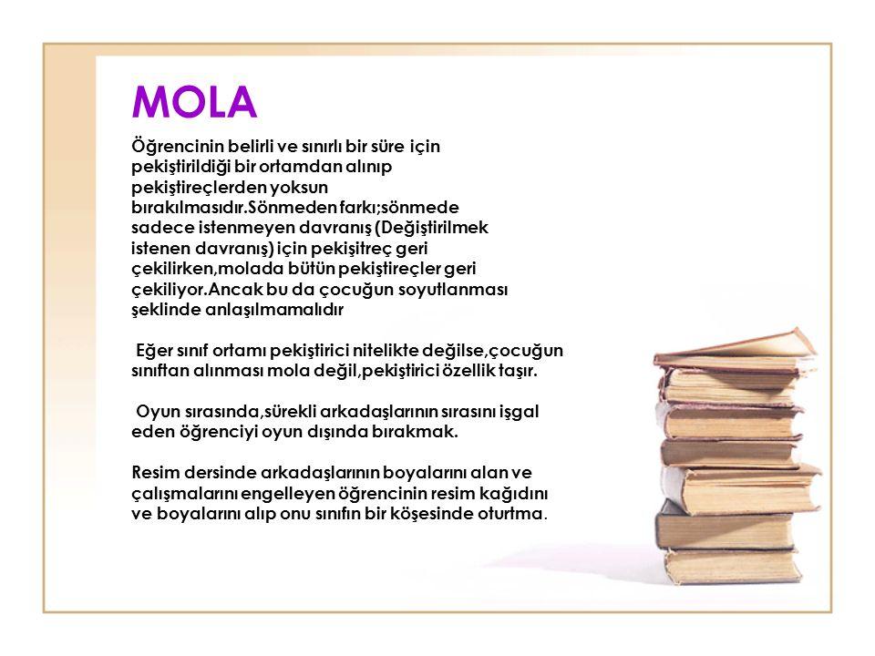 MOLA Öğrencinin belirli ve sınırlı bir süre için