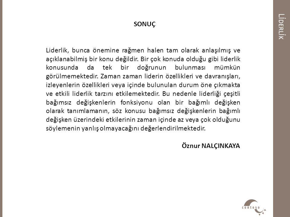 Lİderlİk SONUÇ.