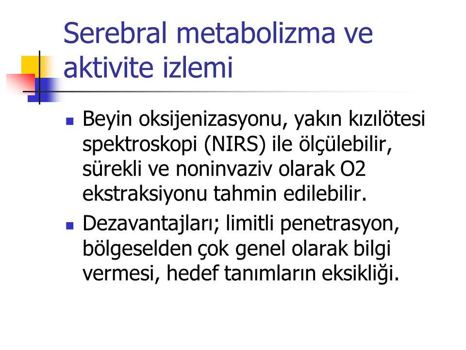 Serebral metabolizma ve aktivite izlemi