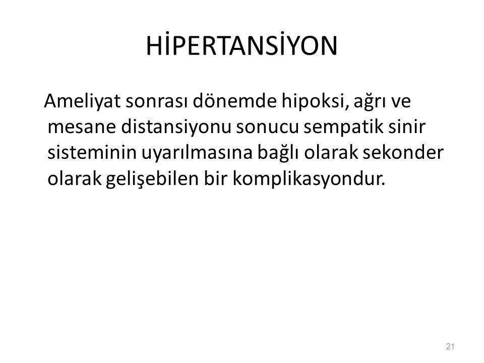 HİPERTANSİYON