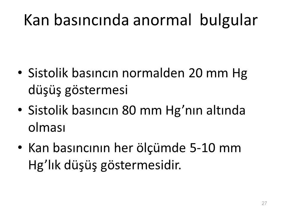 Kan basıncında anormal bulgular