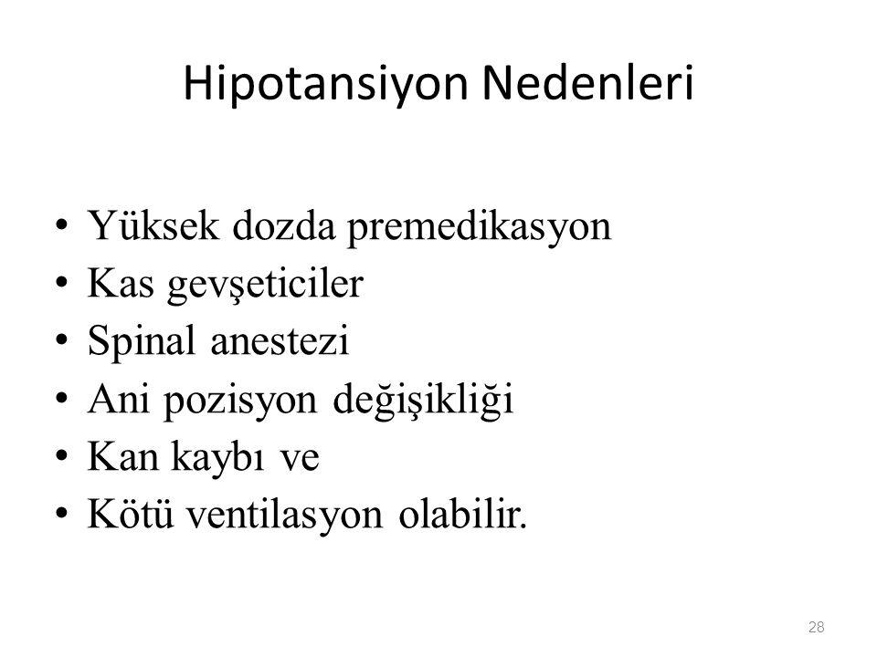 Hipotansiyon Nedenleri